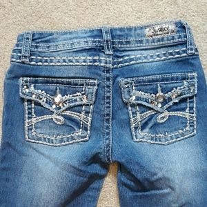Justice Premium Jean's Bling Girls Size 12 S